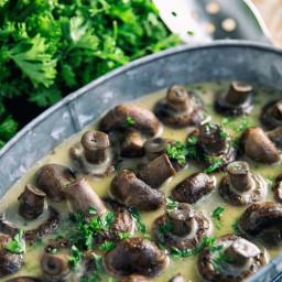 Slow Cooker Herb Mushrooms Recipe