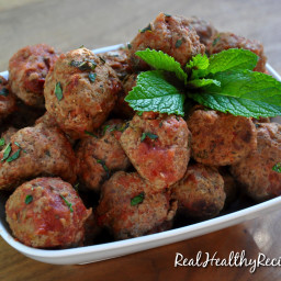 Slow Cooker Lamb Meatballs In Red Sauce