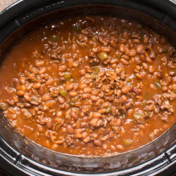 Slow Cooker Land Your Man Baked Beans