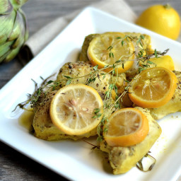 Slow Cooker Lemon Artichoke Chicken