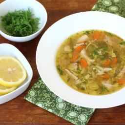 Slow Cooker Lemon Chicken Orzo Soup