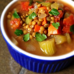 Slow Cooker Lentil Soup with Bacon Recipe