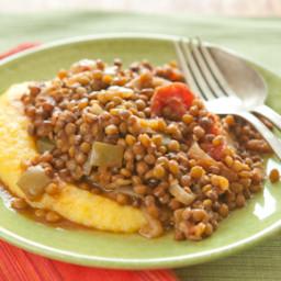 Slow Cooker Lentil Stew with Polenta