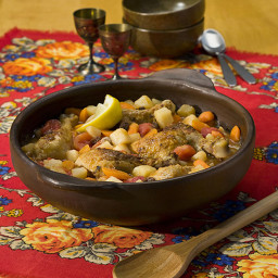 Slow Cooker Moroccan-Style Chicken Potato Stew