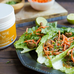 Slow Cooker or Instant Pot Thai Beef Lettuce Wraps (Paleo, Whole30)