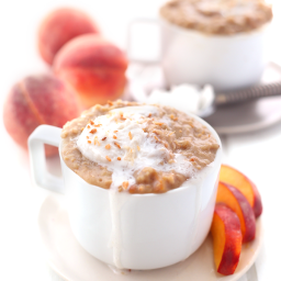 Slow Cooker Peaches and Cream Steel-Cut Oatmeal