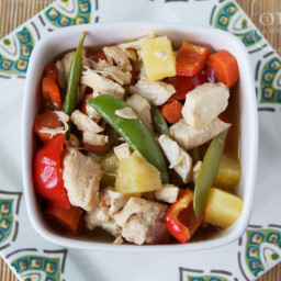 Slow Cooker Pineapple Pepper Chicken Stew