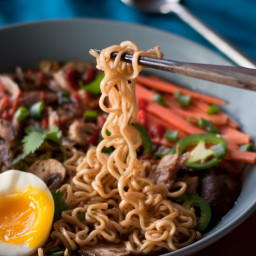 Slow Cooker Pork Ramen Soup