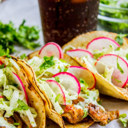 Slow Cooker Pork Tacos with Mexican Coleslaw