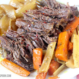 Slow Cooker Pot Roast with Homemade Onion Soup Mix