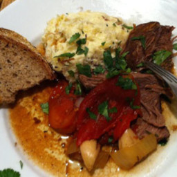 Slow-Cooker Pot Roast with Tomatoes, Balsamic and Garlic