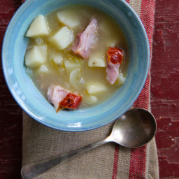 Slow Cooker Potato and Ham Hock Soup