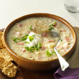 Slow Cooker Potato and Ham Soup Recipe