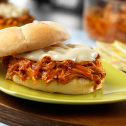 Slow Cooker Pulled Pork & Provolone Sandwiches
