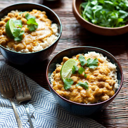 Slow Cooker Pumpkin, Chickpea, and Red Lentil Curry