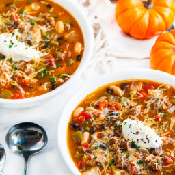 Slow Cooker Pumpkin Sausage Chili