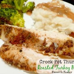 Slow Cooker Roasted Turkey Breast
