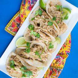 Slow Cooker Salsa Verde Chicken Tacos