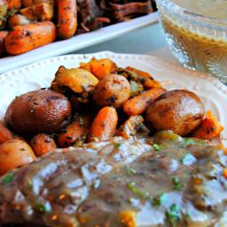 Slow-Cooker Savory Pot Roast with Gravy