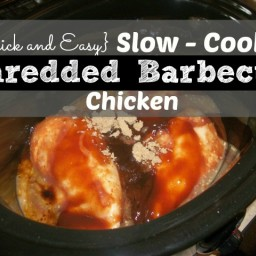 Slow-Cooker Shredded Barbecue Chicken