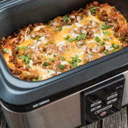 Slow Cooker South of the Border Lasagna