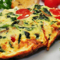 Slow-Cooker Spinach and Ham Frittata