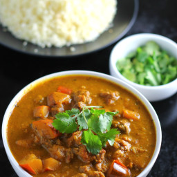 Slow Cooker Squash & Ground Beef Curry