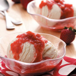 Slow Cooker Strawberry Rhubarb Sauce Recipe