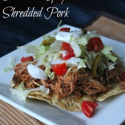 Slow Cooker Sweet and Spicy Shredded Pork