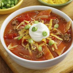 Slow Cooker Taco Soup With Ground Beef
