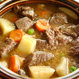 Slow Cooker Thick & Chunky Beef Stew Recipe