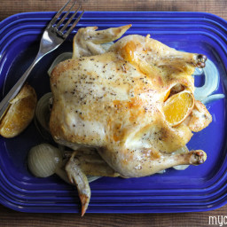 Slow Cooker Whole Chicken with Oranges