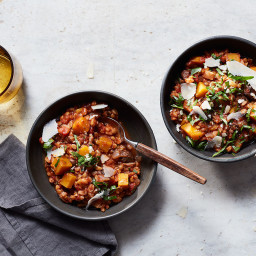 Slow Cooker Winter Vegetable and Farro Stew