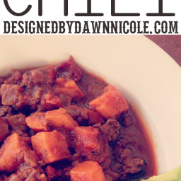Slow-Cooker Chipotle Chocolate Sweet Potato Chili {Whole 30 Compliant}