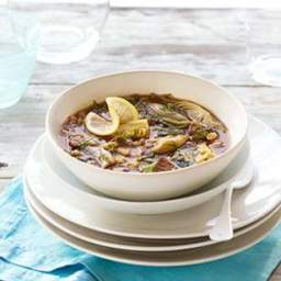 Slow-Cooker Lamb Stew with Artichokes  and  White Beans