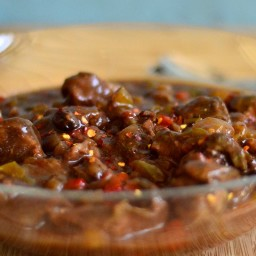 Slow Cookers Ginger Beef and Pepper Stew