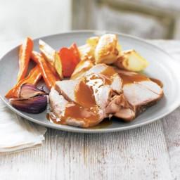Slow roast pork shoulder