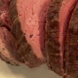 Slow Roasted Filet of Beef With Basil Parmesan Mayonnaise