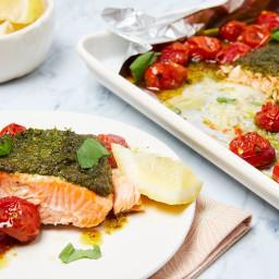 Slow-Roasted Pesto Salmon