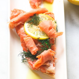 Slow Roasted Salmon With Smoked Salmon Rollups
