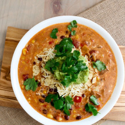 Slowcooker Tex Mex Enchilada Chowder