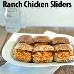 Slow Cooker Buffalo Ranch Chicken Sliders