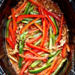 Slow Cooker Citrus Fajita Chicken
