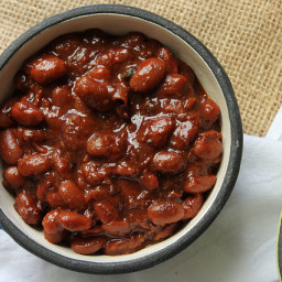Slow Cooker Maple Bourbon Baked Beans