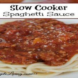 Slow Cooker Spaghetti Sauce