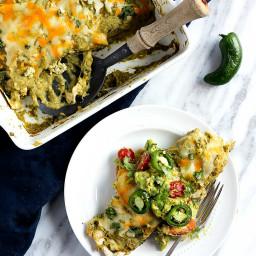 Small Batch Green Salsa Verde Chicken Enchiladas