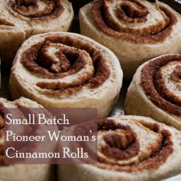 Small Batch Pioneer Woman's Cinnamon Rolls