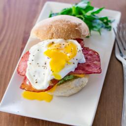 Smashed Avocado Bacon Breakfast Sandwiches
