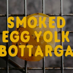 Smoked Egg Yolk Bottarga