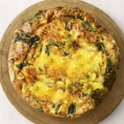Smoked Gouda Frittata with Winter Greens